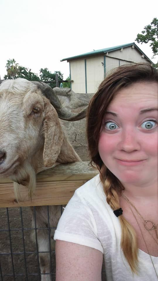 goat selfie GS